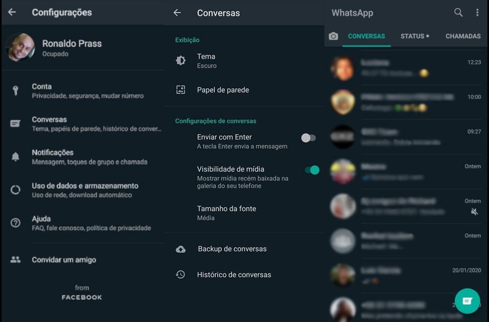 Así se activa el modo oscuro de WhatsApp para Android