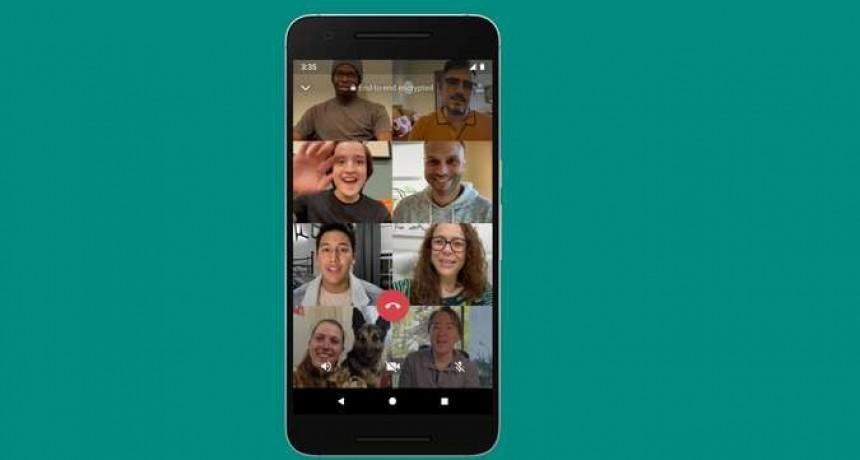 WhatsApp ya permite hacer videollamadas de hasta ocho personas